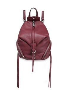 Rebecca Minkoff Woman Julian Pebbled-leather Backpack Merlot