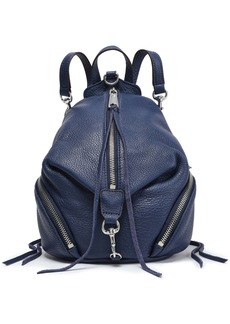 Rebecca Minkoff Woman Julian Pebbled-leather Backpack Navy