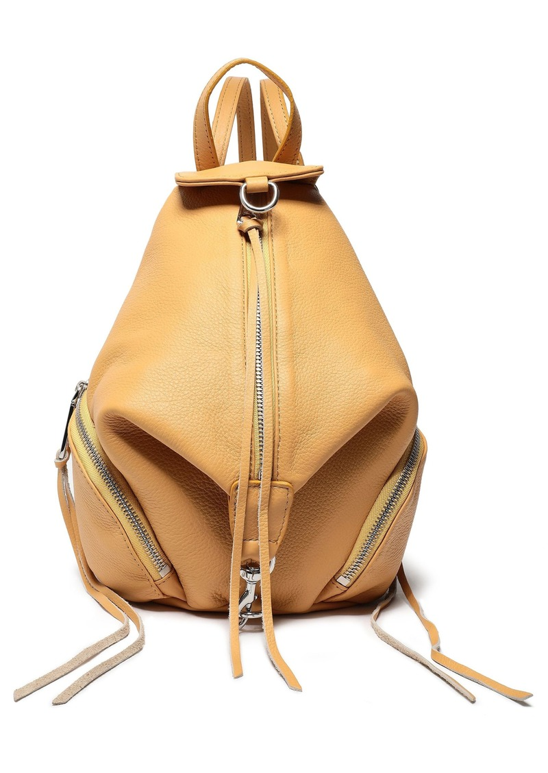 Rebecca Minkoff Woman Julian Convertible Pebbled-leather Backpack Saffron