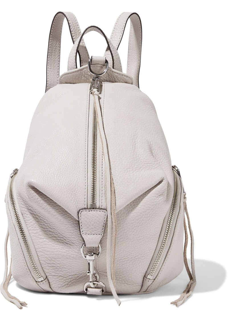 Rebecca Minkoff Woman Julian Pebbled-leather Backpack Stone