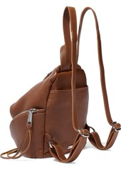 Rebecca Minkoff Woman Julian Textured-leather Backpack Brown
