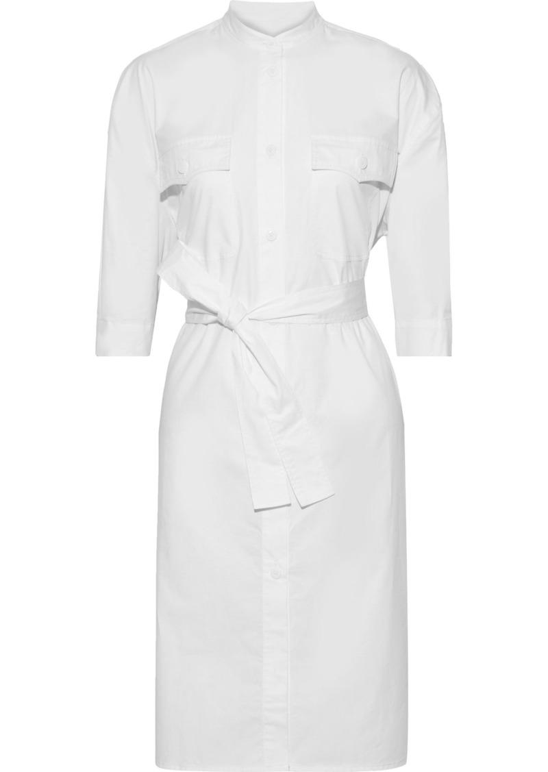 Rebecca Minkoff Woman Kassidy Belted Cotton-poplin Shirt Dress White