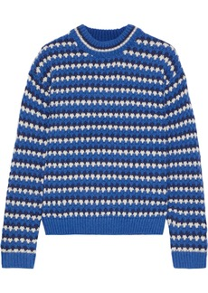 Rebecca Minkoff Woman Katherine Jacquard Sweater Blue
