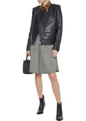 Rebecca Minkoff Woman Katrina Textured-leather Biker Jacket Black