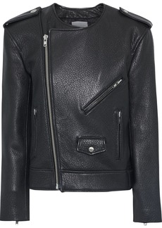 Rebecca Minkoff Woman Katrina Textured-leather Biker Jacket Black