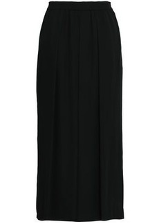 Rebecca Minkoff Woman Krista Pleated Crepe Wide-leg Pants Black