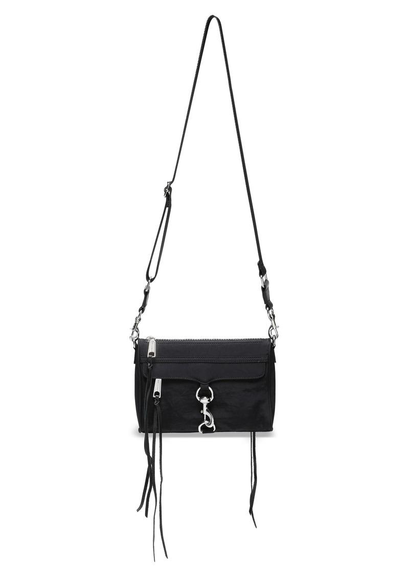 Rebecca Minkoff Woman Leather-trimmed Shell Shoulder Bag Black