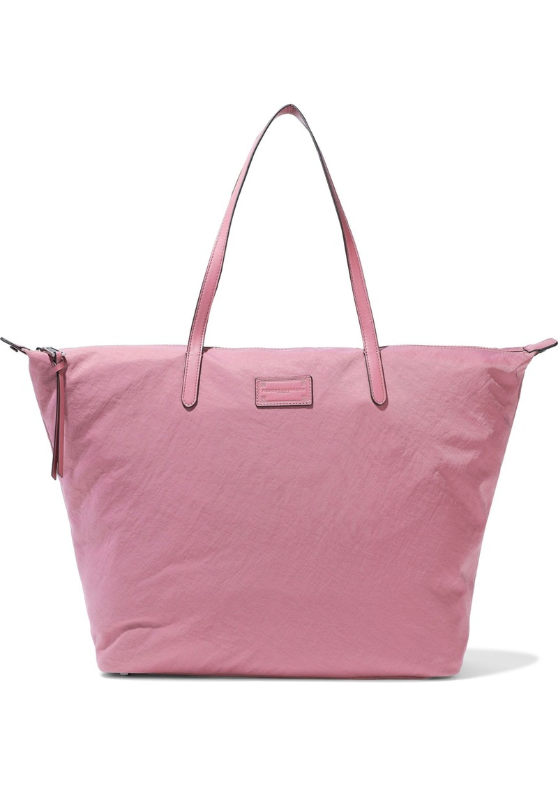 Rebecca Minkoff Woman Leather-trimmed Washed-shell Tote Bubblegum