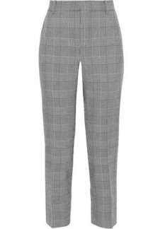 Rebecca Minkoff Woman Louisa Cropped Prince Of Wales Checked Cady Straight-leg Pants Black