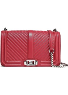 Rebecca Minkoff Woman Love Quilted Leather Shoulder Bag Red