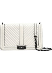 Rebecca Minkoff Woman Love Quilted Textured-leather Shoulder Bag Off-white