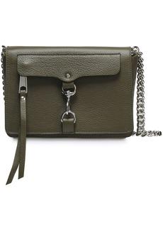 Rebecca Minkoff Woman M.a.b. Mini Pebbled-leather Shoulder Bag Army Green