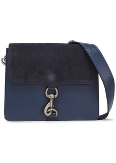 Rebecca Minkoff Woman Mab Suede-paneled Leather Shoulder Bag Navy
