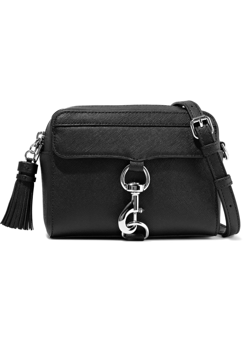 Rebecca Minkoff Woman M.a.b. Tasseled Textured-leather Shoulder Bag Black