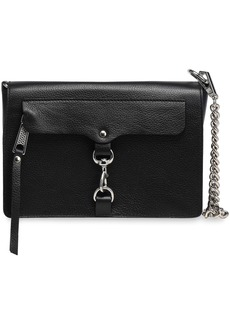 Rebecca Minkoff Woman Mab Textured-leather Shoulder Bag Black