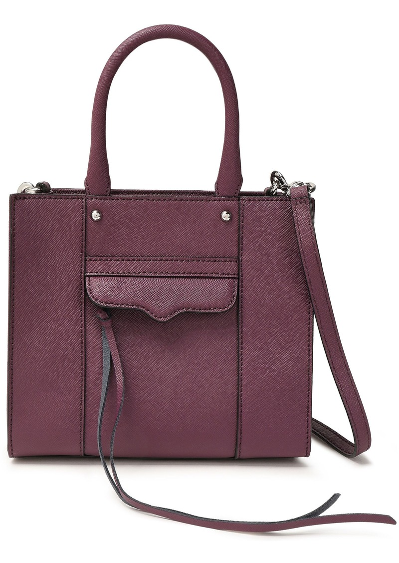 Rebecca Minkoff Woman M.a.b. Textured-leather Tote Purple