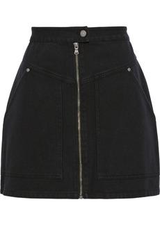 Rebecca Minkoff Woman Marigold Cotton-twill Mini Skirt Black