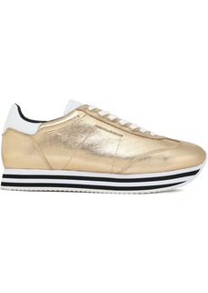 Rebecca Minkoff Woman Metallic Leather Sneakers Platinum