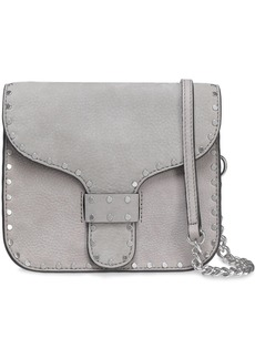 Rebecca Minkoff Woman Midnighter Studded Suede Shoulder Bag Stone