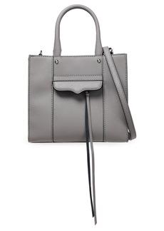 Rebecca Minkoff Woman Mini M.a.b. Textured-leather Tote Gray