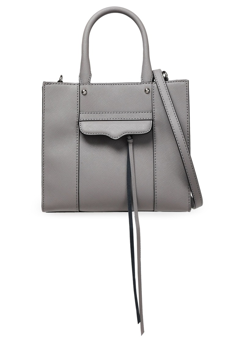 Rebecca Minkoff Woman Mini M.a.b. Textured-leather Tote Gray