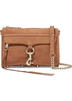 Rebecca Minkoff Woman Mini Mac Suede Shoulder Bag Camel