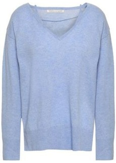 Rebecca Minkoff Woman Mélange Wool And Cashmere-blend Sweater Light Blue