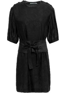 Rebecca Minkoff Woman Modal-blend Jacquard Mini Dress Black