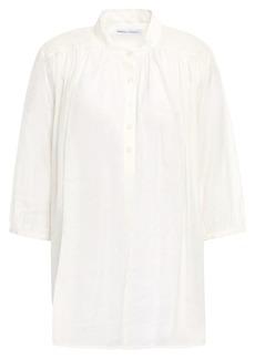 Rebecca Minkoff Woman Modal-blend Jacquard Shirt Ivory