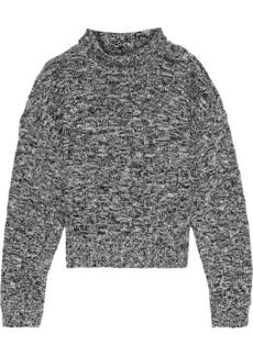 Rebecca Minkoff Woman Montana Cotton-blend Jacquard Turtleneck Sweater Black