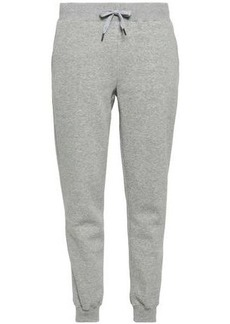 Rebecca Minkoff Woman Nora Mélange Cotton-blend Fleece Track Pants Stone