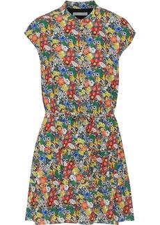 Rebecca Minkoff Woman Ollie Floral-print Crepe De Chine Mini Dress Multicolor