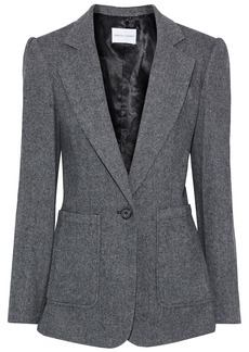 Rebecca Minkoff Woman Pax Herringbone Wool-blend Blazer Black