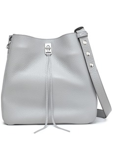 Rebecca Minkoff Woman Darren Studded Textured-leather Shoulder Bag Gray