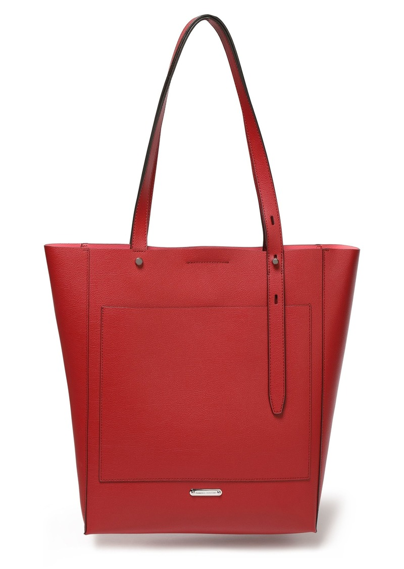Rebecca Minkoff Woman Pebbled-leather Tote Claret
