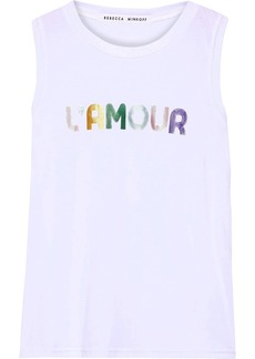 Rebecca Minkoff Woman Printed Cotton And Modal-blend Jersey Tank White