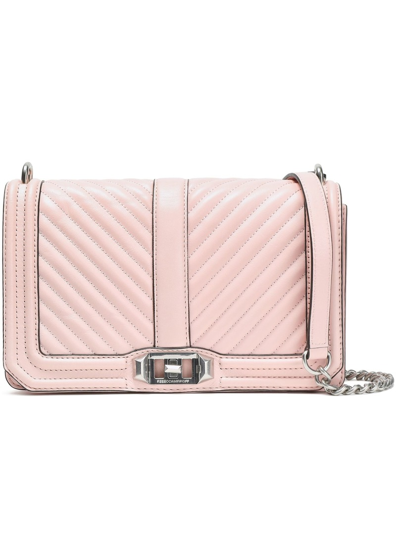 Rebecca Minkoff Woman Quilted Leather Shoulder Bag Baby Pink