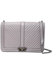 Rebecca Minkoff Woman Quilted Leather Shoulder Bag Gray