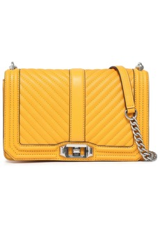 Rebecca Minkoff Woman Quilted Leather Shoulder Bag Saffron