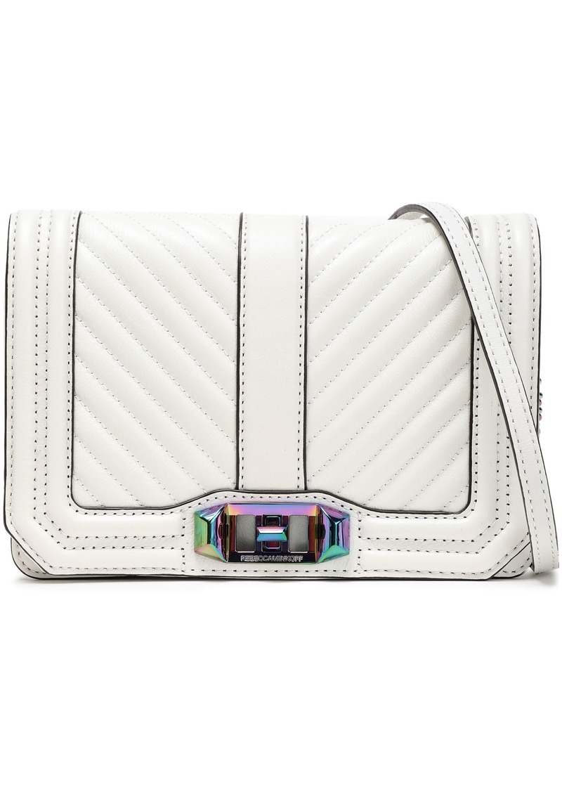 Rebecca Minkoff Woman Quilted-leather Shoulder Bag White