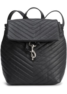 Rebecca Minkoff Woman Quilted Textured-leather Backpack Black