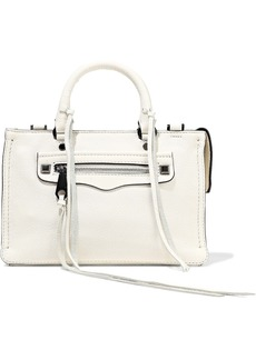 Rebecca Minkoff Woman Regan Micro Textured-leather Shoulder Bag Off-white