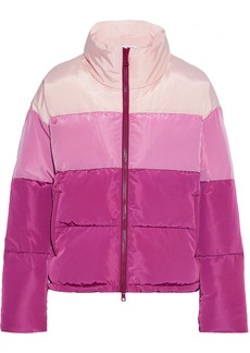 Rebecca Minkoff Woman Rosie Quilted Color-block Shell Coat Pink