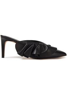 Rebecca Minkoff Woman Ruffle-trimmed Leather Mules Black