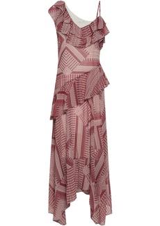 Rebecca Minkoff Woman Ruffled Printed Crepe Midi Dress Red