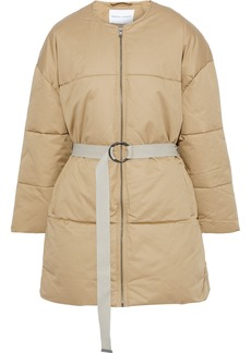 Rebecca Minkoff Woman Sandra Quilted Cotton-twill Coat Beige