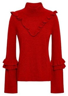 Rebecca Minkoff Woman Shelly Wool And Yak-blend Turtleneck Sweater Claret