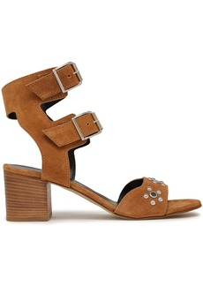 Rebecca Minkoff Woman Sofia Studded Leather Sandals Light Brown