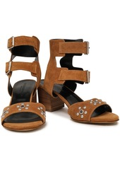Rebecca Minkoff Woman Sofia Studded Leather Sandals Light Brown