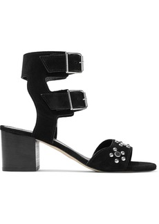Rebecca Minkoff Woman Sofia Studded Suede Sandals Black